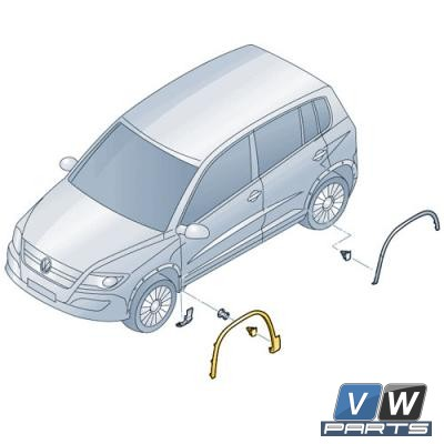 Накладка арки колеса передняя Volkswagen Tiguan - замена, vw-parts.ru