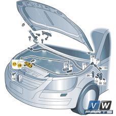 Замок крышки капота нижний Volkswagen Tiguan - замена