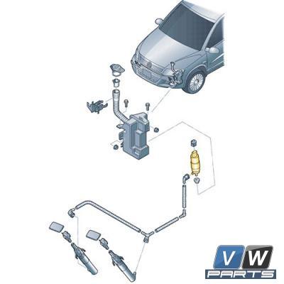Насос фароочистителя Volkswagen Tiguan - замена, vw-parts.ru