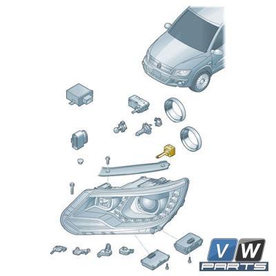 Лампа ксеноновая левая Volkswagen Tiguan - замена, vw-parts.ru