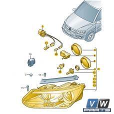 Фара передняя Volkswagen Tiguan - замена