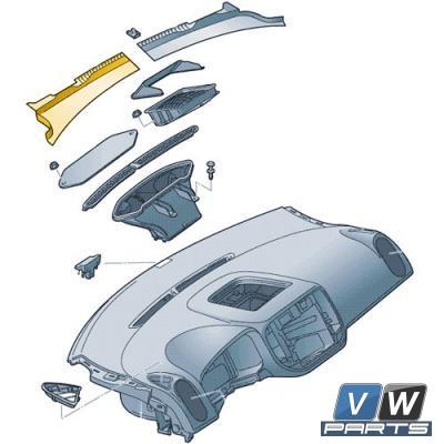Панель водотводящего кожуха слева Volkswagen Tiguan - замена, vw-parts.ru