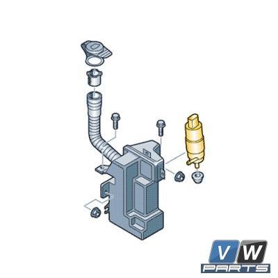 Насос стеклоомывателя Volkswagen Tiguan - замена, vw-parts.ru