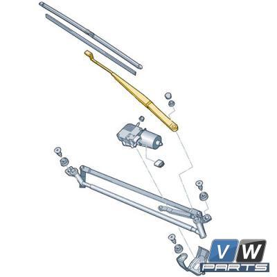 Рычаг стеклоочистителя передний Volkswagen Tiguan - замена, vw-parts.ru