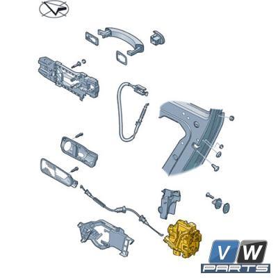 Замок задней двери Volkswagen Tiguan - замена, vw-parts.ru