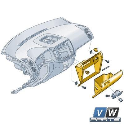 Ящик перчаточный Volkswagen Tiguan - замена, vw-parts.ru
