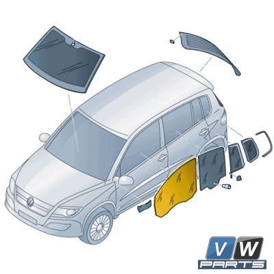 Стекло передней двери Volkswagen Tiguan - замена, vw-parts.ru