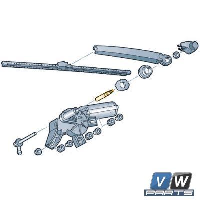 Жиклёр заднего стекла Volkswagen Tiguan - замена, vw-parts.ru
