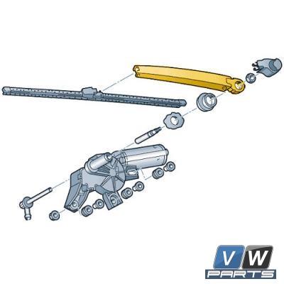 Рычаг заднего стеклоочистителя Volkswagen Tiguan - замена, vw-parts.ru