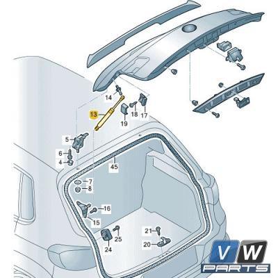Амортизатор крышки багажника Volkswagen Tiguan - замена, vw-parts.ru